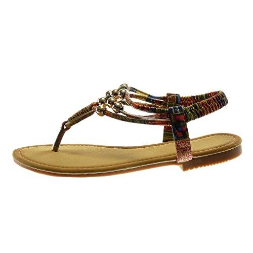 ... Perle Cm Rouge Slip Doré Salomés Talon Fantaisie Femme on Sandale Bloc  Chaussure Angkorly Lanière Mode ... f23a1a0bb36e