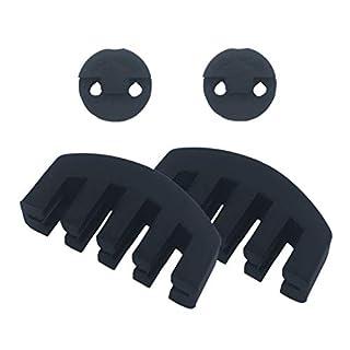 Amgate Übungsdämpfer-Set, Gummi, inkl. 2 Klauenform, 2 runde Tourte-Stil, Schwarz