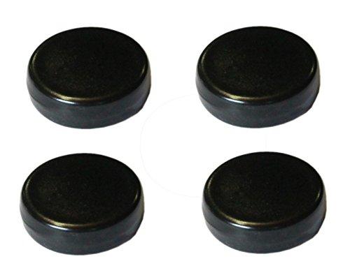 Hentschke Keramik Füsschen für Pflanzkübel/Pflanztopf 4 Stück Ø 5 cm, schwarz, 004.048.08 Made in Germany