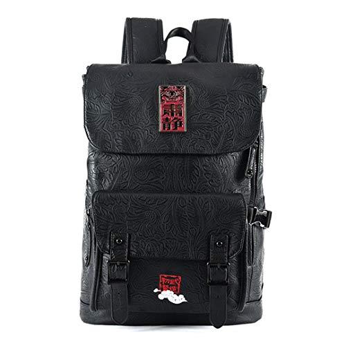 Chinesischen Stil Luxus Männer Rucksäcke Vintage Lion Head Stickerei Druck Männlichen Laptop Rucksack Tägliche Bookbags Red B