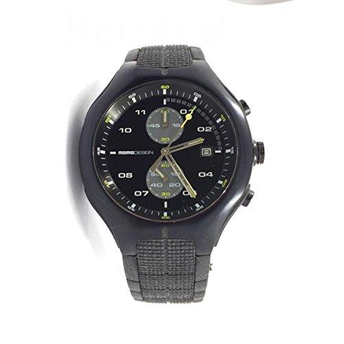 Uhr MOMO DESIGN HERREN md-084bk-11Quarz (Batterie) Stahl Quandrante schwarz Armband Gummiarmband '