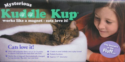 Misteriosa Kuddle Kup gato cama, color gris