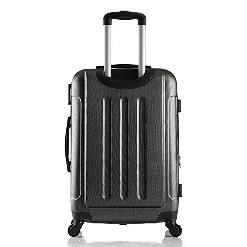 EUGAD Reisekoffer Hartschalenkoffer 4 Rollen mit erweiterbaren Volumen Reise Koffer Trolley Hartschale Handgepäck groß M / L / XL / Set leicht und günstig Rosa (L 67 cm & 70 Liter) , RK4204rs-L -