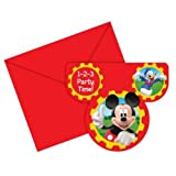 Party2u Mickey Mouse Clubhouse Inviti (Confezione da 6)