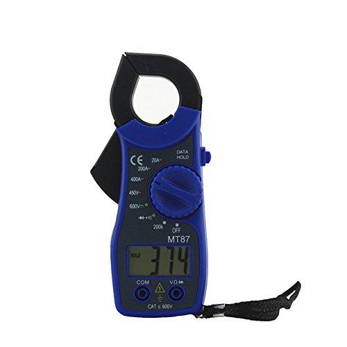 zhuotop MT87Digital LCD voltímetro amperímetro óhmetro AC/DC Prueba Clamp Meter multímetro Instrumento de medición de tensión
