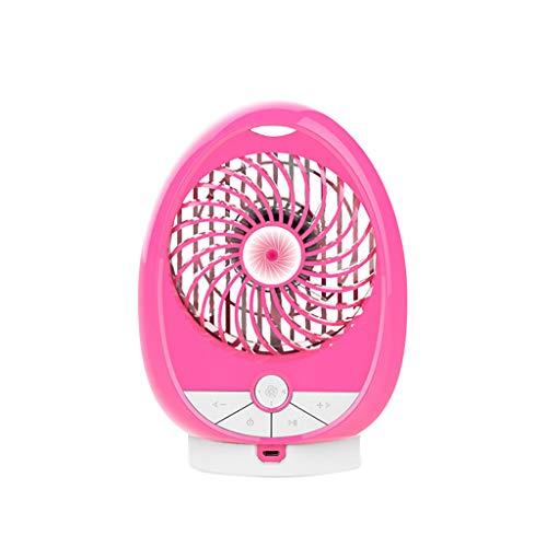 iHAZA Wiederaufladbarer kleiner Lüfter Handheld Desktop Silent Mini Fan Bluetooth Lautsprecher - Desktop-tower Kleine