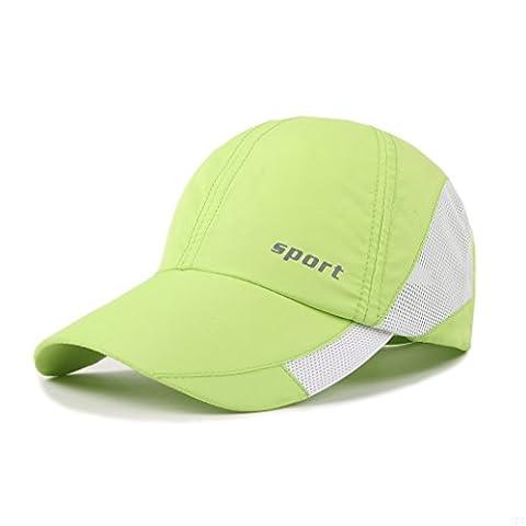 Lightweight Run Baseball Hat Outdoor Sport cap (Sport Series, Green)