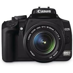 Canon EOS 400D Appareil photo numérique Reflex 10.1 Mpix Kit Objectif 18-55mm Noir