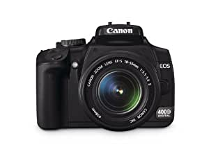 Canon EOS 400D + EF-S 18-55mm 10MP CMOS 3888 x 2592pixels Black - Digital Cameras (10 MP, 3888 x 2592 pixels, CMOS, 510 g, Black)