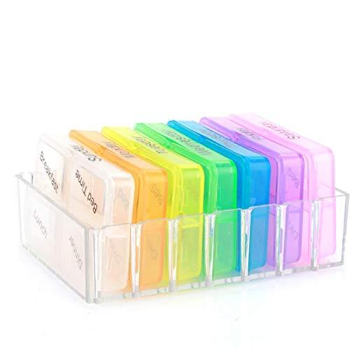 TOSSPER Behälter-Kasten Medizin Wöchentliche Lagerung Pille 7 Tagtablette Organizer Health Care Pill Organizer Portable Sorter Box (Pille Sorter Box)