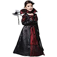 YTSLJ Halloween Christmas Vampire Princess Dress, Disfraces De Cosplay Disfraz De Reina Prom (Color : Negro, Tamaño : Metro)