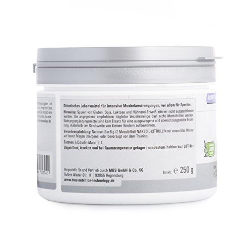 Reines Citrullin Malat Pulver – L-Citrulin steigert die Arginin Wirkung und Durchblutung – Pump Boster / 250g