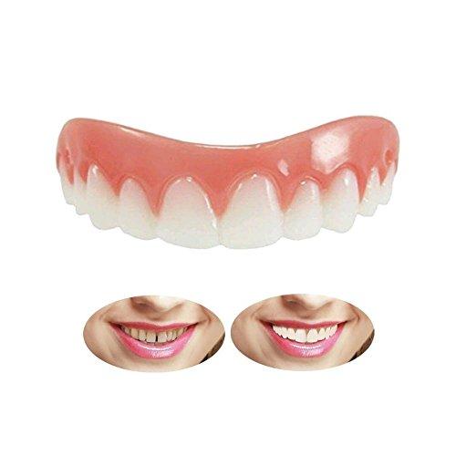 Kosmetische Zähne Sofortiges Lächeln Zähne Whitening Prothese Perfekte Smile Veneers Top Kosmetikfurnier,Quick Dental Tooth Provisorischer Zahnersatz Zahnprothese Veneer für Oberkiefer -