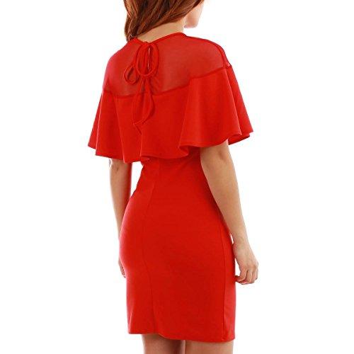 La Modeuse - Robe courte moulante sans manches Rouge