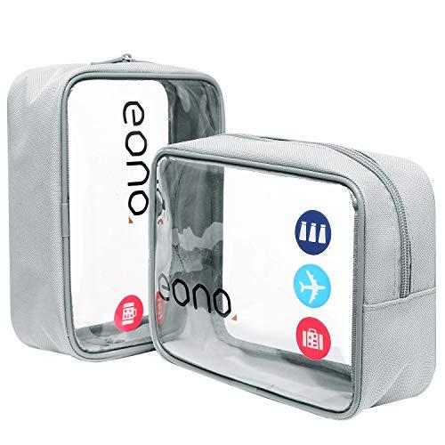 b9fac71af6f Eono Essentials, beauty case trasparente, borsetta portaoggetti da viaggio,  per cosmetici e cura