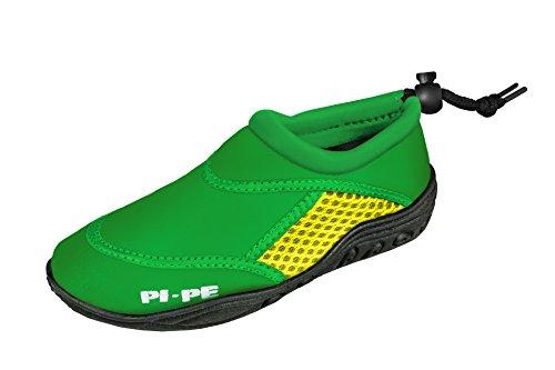 PI-PE Active Badeschuhe Kinder Jungen und Mädchen Aquashoes Schwimmschuhe (Green/Yellow, 20) (Baby-schuh-box)