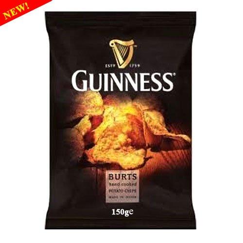 Burts Guinness Hand Cooked Potato Chips 150g - Handfrittierte Kartoffelchips mit Guinness Flavour (Britische Kartoffel-chips)