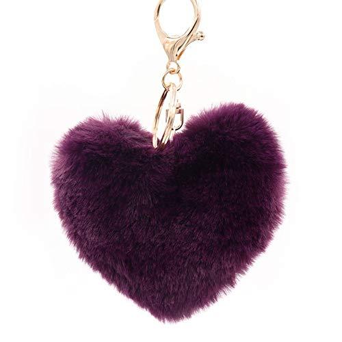 Da.wa, portachiavi di peluche a forma di cuore portachiavi bag girl girl keychain portachiavi, style#8