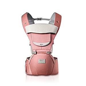 SONARIN 3 in 1 All Season Breathable Hipseat Baby Carrier,Sun Protection,Ergonomic,Multifunction,Easy Mom,Adapted to Your Child's Growing, 100% Guarantee and Free DELIVERY,Ideal Gift(Pink)   13