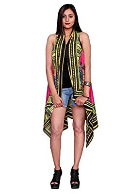 Handicraft-Palace Pink Floral African Printed Jacket Shrugs Cardigan Bikini Cover up Cotton Kimono Coat Women's Dress Cover up Shrug Top for Girl's by