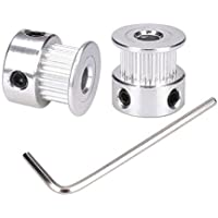 Xsentuals GT2 Timing Pulley 20 Teeth Aluminium 5mm Bore for 3D Printers 2pcs (2mm Pitch)