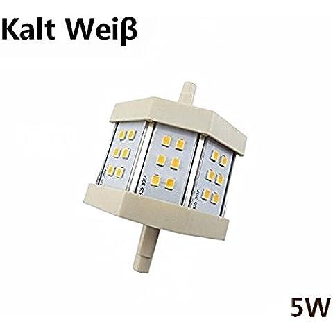 MCTECH 5W blanco fresco no regulables R7S de la lámpara LED SMD 2835 lámpara de luz del punto de 200 grados (78 mm)