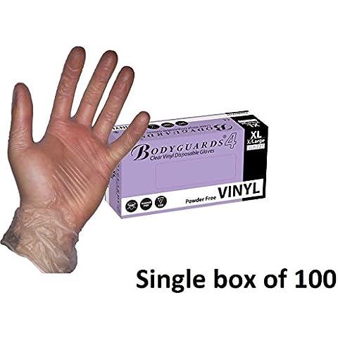 Libre de guardaespaldas de la Royal Academy of guantes de vinilo transparente para proteger del aroma de polvos de talco de tamaño mediano juego de aerosoles para exterior 100