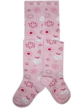 Weri Spezials Kunterbunt-Strumpfhose mit einem froehlichen Muster in Rose