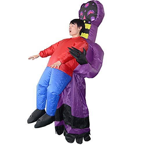 Omiky Halloween Party Performance Performance Parodie Festival Kostüm lila Geister Erwachsener aufblasbarer boshafter Kostüm-Anzug-lustiges - Lila Lustige Aufblasbare Kostüm