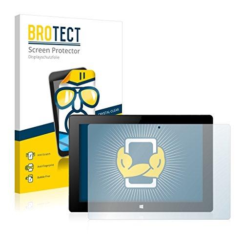 2X BROTECT HD Clear Bildschirmschutz Schutzfolie für Xoro PAD 10W4 (kristallklar, extrem Kratzfest, schmutzabweisend)