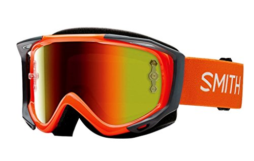 SMITH MX Goggle V2 SX orange red mirror +gratis Extra Scheibe: clear