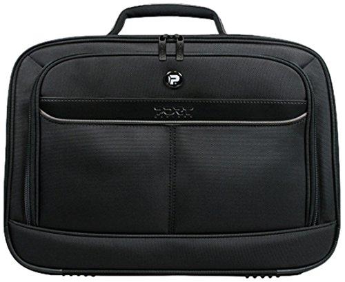 Port Manhattan Pro Clamshell Tasche für Notebook bis 39,6 cm (15,6 Zoll) schwarz (Notebook Clamshell Schwarz Nylon)