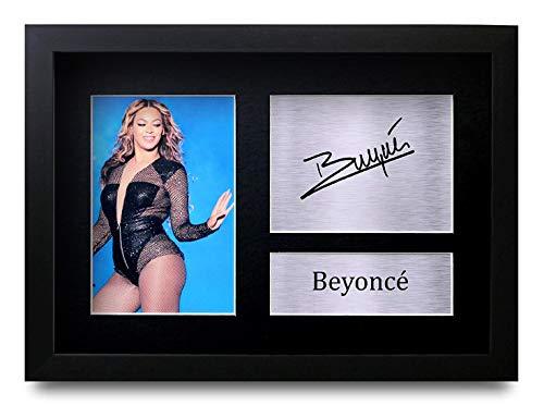 HWC Trading Beyonce (GERAHMTES) Geschenke Unterzeichneten A4 Gedrucktes Autogramm Destiny's Child Musik Druck-Foto-Bilderanzeige (Beyonce Bilder-rahmen)