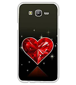 Beautiful Shining Red Heart 2D Hard Polycarbonate Designer Back Case Cover for Samsung Galaxy On7 G600FY :: Samsung Galaxy On 7 (2015)