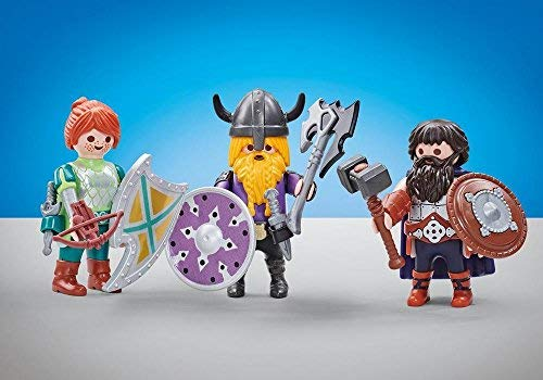 Playmobil 6588 - 3 Chevaliers Nains - Emballage Plastique