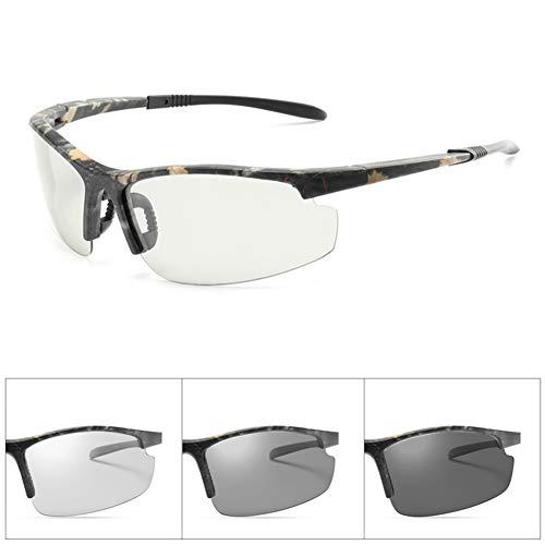 VIWIV Photochrome Sonnenbrillen Für Herren Tag Und Nacht Sonnenbrillen, Fashion Sports Polarized Half-Frame Sonnenbrillen