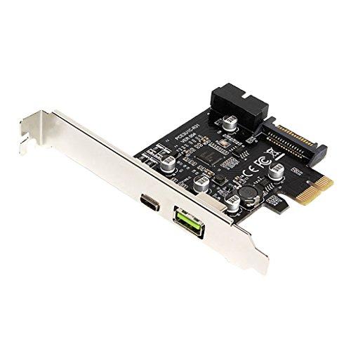 D DOLITY PCI Express USB 3.1 Tipo-C USB-C Tarjeta