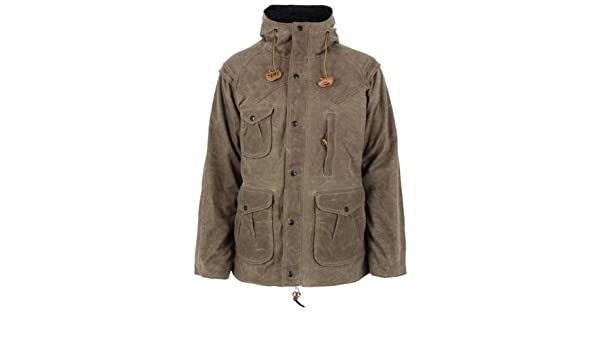 Monitaly Waxed Tan Mountain Parka XL: Amazon co uk: Clothing