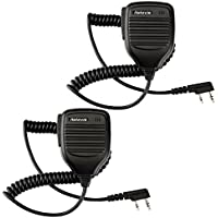Retevis Lautsprecher Funkgeräte Handheld Mikrophon Kompatibel mit Walkie Talkie RETEVIS Funkgerät RT24 RT21 RT5R RT5RV RT22 RT1 RT3 RT7 RT8 H777 R888S QUANSHENG PUXING WOUXUN TYT BAOFENG UV5R KENWOOD(1 Paar, Schwarz)
