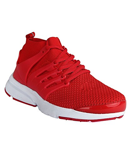 1c372948167226 Buy Vir Sport Air Red Men s Running Shoes on Amazon