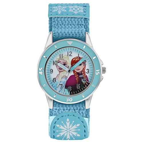 Frozen Mädchen Analog Quarz Uhr mit Stoff Armband FZN5014
