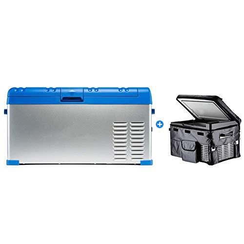 Peaceip Outdoor Compressor Kühlschrank Mini-Kühl- / Gefrierschrank Car Home Dual-Use-Hochleistungs-Digitalanzeige Anti-Shake Anti-Shake-Elektrokühler Anwendbar für Autos, LKWs, Wohnmobile, B (Mini Kühl-und Gefrierschrank)