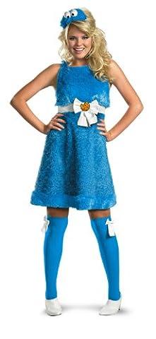 Damen Cosplay Frauen Kleidung Cookie Monster Sesamstraße Partykleid Sexy Kleid Kostüm Gr. Groß -