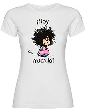 The Fan Tee Camiseta de Mujer Divertidas Mujer Colores Hoy MUERDO Divertida Funny