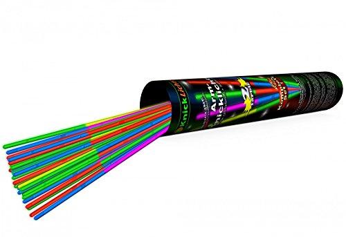 25 zweifarbige Arm Knicklichter MULTICOLOR mit Doppelfarbkammer