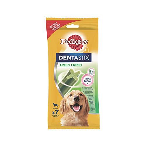 Pedigree DentaStix Fresh Hundeleckerli für große Hunde, Kausnack gegen Zahnsteinbildung, Für gesunde Zähne und einen frischen Atem, 10er Pack (10 x 7 Stück)