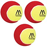 Redmax Woolen Rubber Tennis Ball, Set Of 3 (Red & Green)