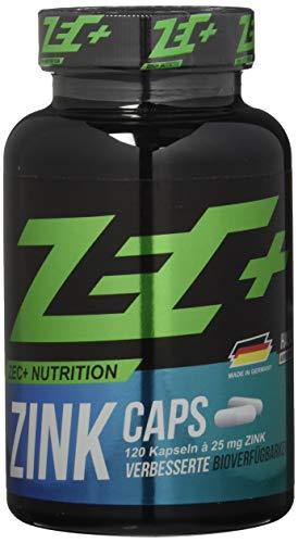 ZEC+ ZINK Caps - 120 Kapseln zur Stärkung des Immunsystems, Zink Kapseln mit wichtigen Mineralien für Kraftsport und Bodybuilding
