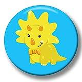 Polarkind Button Pin Karneval Anstecker Dino Dinosaurier 38mm Handmade Kindergeburtstag