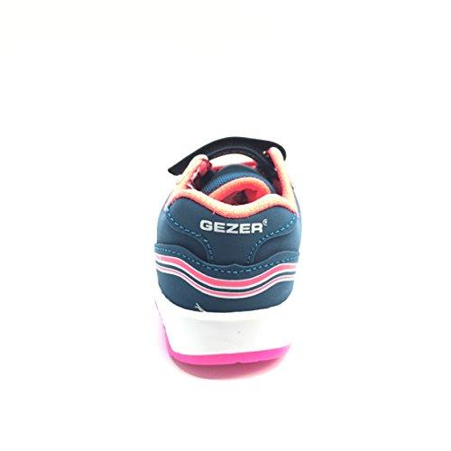 Gezer Kinder Blinkschuhe Sneaker Freizeitschuhe Gr. 22-25 Neu Petrolblau
